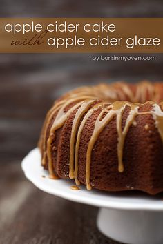 Apple Cider Pound Cake with Apple Cider Glaze!!