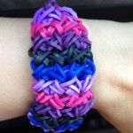 Experiment with color patterns like this loomy customer did with their awesome Rainbow Loom creation!