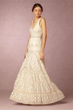 Browse Beach Bridal Dress Inspiration for Summer Weddings | Payal Jain Kavita Dress, $650; at BHLDN