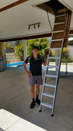 Another quality aluminum attic access ladder installed and 12sqm of light attic storage installed in to a truss frame roof  for a happy customer in Southern River in the southern Suberbs of Perth