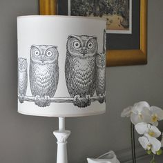 owls lampshade by stem lighting | notonthehighstreet.com