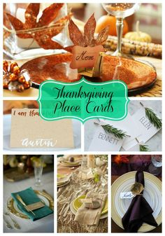 The Loveliest Thanksgiving Place Cards! - B. Lovely Events