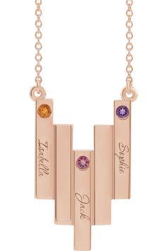 Brilliant Bijou Diagonal Script Initials Personalized Necklace