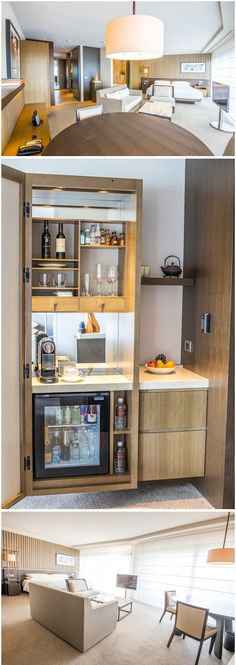 Design Hotel, House Design, Hotel Minibar, Hotel Kitchenette, Design Commercial, Café Restaurant, Muebles Living, Bar Cart Decor, Modern Contemporary Homes