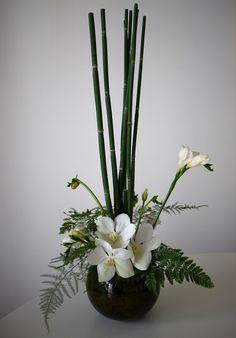 freesia - lisianthus - orchidée