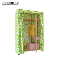 228.30$  Watch now - http://ali3eg.worldwells.pw/go.php?t=32599073054 - Gohide Solid Wood Pine Wardrobe Simple Wardrobe Coarse Canvas Set -750c Furniture Wardrobes With Simple Lockers For Bedroom