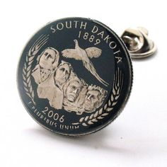 South Dakota Tie Tack Lapel Pin Suit Flag State Coin Jewelry