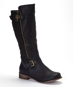 Black Buckle Grace Boot | Daily deals for moms, babies and kids