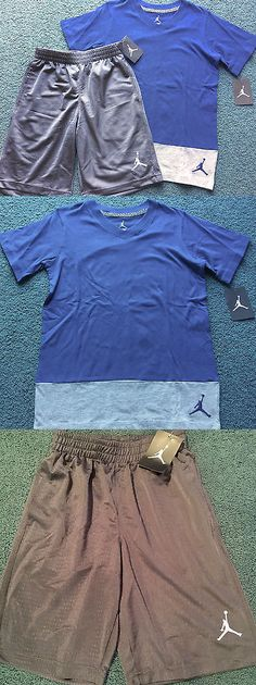de36a81f0ada Outfits and Sets 156790  Nwt Nike Jordan Boys Xl Steel Blue Gray V-Neck  Basketball Shorts Set Xl 18-20 -  BUY IT NOW ONLY   47.99 on eBay!