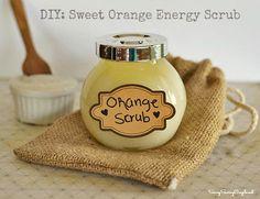 Homemade Mothers Day Gift Idea: Sweet Orange Energy Scrub Bursting with Energizing Orange Essential Oil!