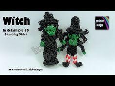 Rainbow Loom Halloween Witch Action Figure/Charm - © Izzalicious Designs 2014 - YouTube