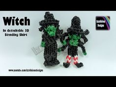 Rainbow Loom Halloween Witch Action Figure/Charm - © Izzalicious Designs 2014 - YouTube