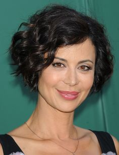 Catherine Bell short wavy hairstyle