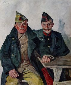 Portraits of soldiers first world war, Thomas Baumgartner (1892-1962).