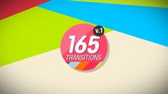 Download Template here: http://bit.ly/1s6mbDV More Templates: http://bit.ly/1eOXlNt  © BoxMotion  165 AE Transitions Pack v.1 This package includes 165 motion graphics transitions. All the transitions are easy to customize. Color control for each layer for fast color change. Preview Gallery of all the transitions is included.  Project Informations:  -100% After Effects - Full HD 1920×1080  - 30 FPS - The project is easy to be customized - No Plugins Required - Fast render  - ...