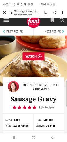 sausage gravy pioneer woman * sausage gravy & sausage gravy recipe & sausage gravy and biscuits & sausage gravy casserole & sausage gravy pioneer woman & sausage gravy easy & sausage gravy recipe easy & sausage gravy breakfast pizza Bisquits And Gravy, Sausage Gravy And Biscuits, Easy Biscuits, Homemade Biscuits, The Pioneer Woman, Pioneer Woman Salsa, Pioneer Woman Recipes, Fun Cooking, Cooking Recipes