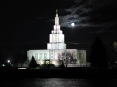 Click to enlarge this image of the Idaho Falls Idaho Mormon Temple