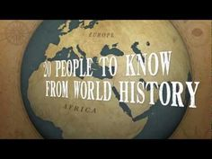 """Video quiz of 20 people to know from World History set to the tune of Jay-Z's song """"History"""". Great, fun way to take a  pre-test or review before an exam!"""