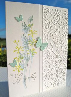 sympathy love use half embossing with scored border