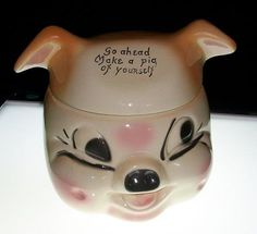 American Bisque Co. - Cardinal Pig Cookie Jar