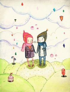 Winter love, Print 10x15cm