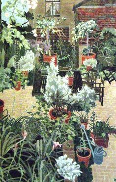 "Illustration : ""The Garden at St. Kevin's"", Cressida Campbell, cour-jardin"