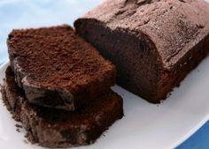 Bread machine Chocolate pound cake.