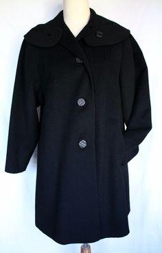 Get it at Bad Reputation! #Vintage 1960's #BlackWool Blend Dress #SwingCoat #Overcoat - Medium Lined #ILGWU #VintageCoat #DressCoat #WinterCoat #Winter #WarmCoat #WoolBlend #Wool #AllDressedinBlack