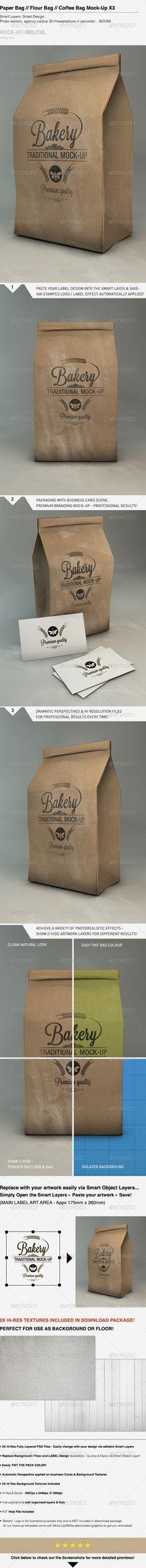 Paper Bag Mock-Up | Flour - Coffee Bag Mock-Up