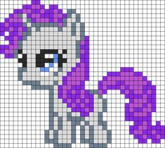 MLP Filly Rarity perler bead pattern