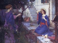 Annunciation   1914.   By   John William Waterhouse   6 IV 1849 — 10 II 1917