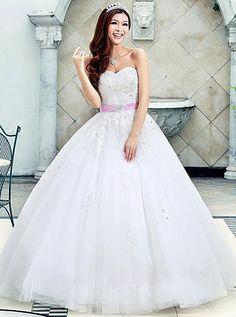 Luxurious A-Line Sweetheart Appliques Floor Length Wedding Dress Wedding Dress Styles, Here Comes The Bride, Corset, Wedding Day, Luxury, Appliques, Floor, Fashion, Pi Day Wedding