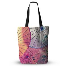 """Sylvia Cook """"Colorful Umbrellas"""" Multicolor Everything Tote Bag from KESS InHouse"""