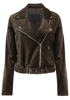 Shop the Paige Denim Shanna Velvet Biker Jacket - Vintage Deep Juniper online at The Dressing Room. Get 10% OFF your first order + FREE UK delivery!