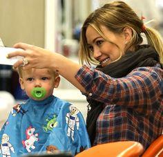 Hilary Duff gets Luca a new Haircut