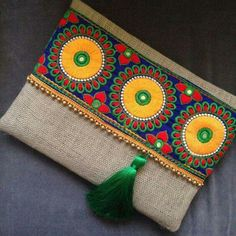 Items similar to embroidered bag, clutch purse, women's bag, bohemian clutch, boho style on Etsy - milena Jute Fabric, Embroidered Bag, Handmade Bags, Clutch Purse, Coin Purse, Etsy, Hand Embroidery, Vintage Embroidery, Purses And Bags