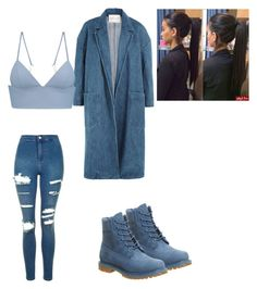 """""""Blue"""" by amilagarcia12 on Polyvore featuring Timberland, Sandy Liang, T By Alexander Wang and Topshop"""