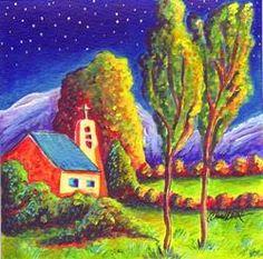 Art: Sky Watching by Artist Christine Wasankari
