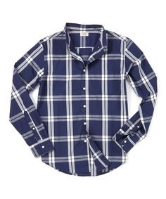 Loving this Reed Edward Navy & White Plaid Woven Button-Up on #zulily! #zulilyfinds
