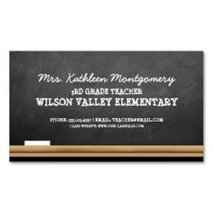 chalkboard teacher business card classroom teacher school teacher teacher business cards business card - Teacher Business Cards