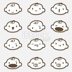 Icon Set - Baby Face ( Emoticons ) Lizenzfreie Vektorillustrationen