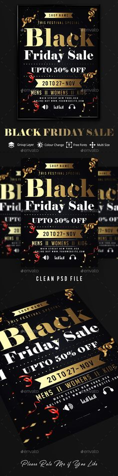 #Black Friday Sale Flyer - Events #Flyers