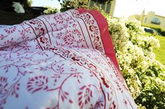 Hand Made Quilts - Pink Quilt Bedding - Hand Block Printed from Attiser