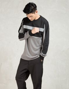 ICNY Black L/S Tron Tech T-Shirt