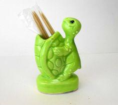 Vintage turtle toothpick holder Japan new old stock on Etsy, $16.50