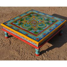 The New Delhi Primrose Hand Painted Square Coffee Table is constructed from solid hard wood. Sheesham is a variety of environmentally friendly Indian rosewood. It is sought out for high quality furniture because of its strength and durability.