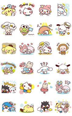 Stickers Kawaii, Cartoon Stickers, Cute Stickers, Free Printable Stickers, Printable Labels, Free Printables, Kawaii Doodles, Cute Doodles, Kawaii Art