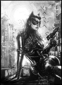 Dark Knight Catwoman 2 - Rudy Ao Comic Art
