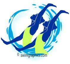 Synchronized Swimming Duet Clipart: Page Three. Page Three, Synchronized Swimming, Water Polo, Logo Design, Clip Art, Cartoon, Swimmers, Image, Costumes