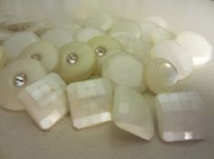 Vintage Buttons  beautiful  lot of 35 pearlized by pillowtalkswf, $7.75